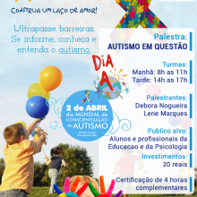 Apoio ao Dia do Autismo